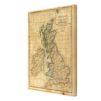 Reino Unido de Inglaterra, de Escocia y de Irlanda Impresiones De Lienzo