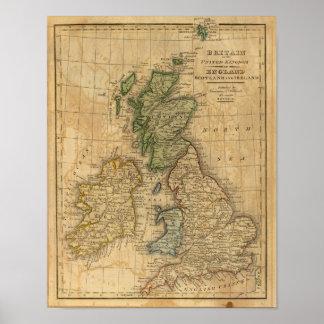 Reino Unido de Inglaterra, de Escocia y de Irlanda Póster
