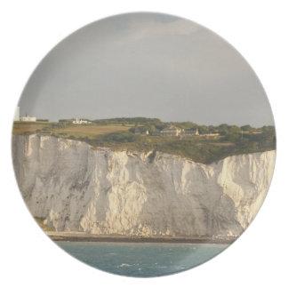 Reino Unido, Dover. Los acantilados blancos famoso Plato Para Fiesta
