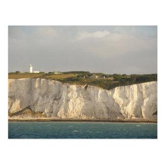 Reino Unido, Dover. Los acantilados blancos famoso Tarjeta Postal