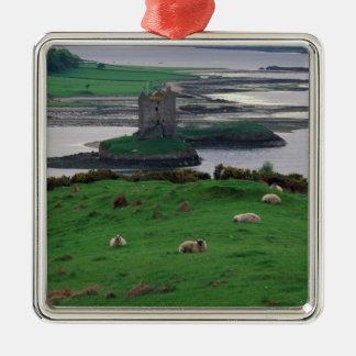 Reino Unido, Escocia, isla de Skye, vieja Adorno Navideño Cuadrado De Metal