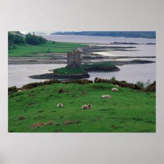 Reino Unido, Escocia, isla de Skye, vieja Póster