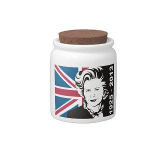 Reino Unido está de luto a Margaret Thatcher, la Tarro De Cerámica Para Dulces