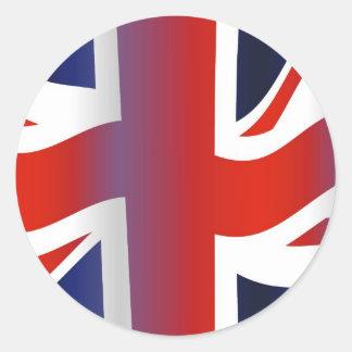 Reino Unido ondulado Etiquetas Redondas