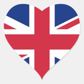 Reino Unido Pegatina Corazón Personalizadas