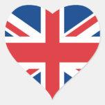 Reino Unido Pegatina En Forma De Corazón