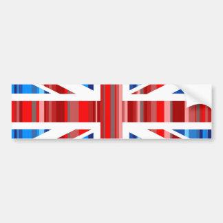 Reino Unido rayado Pegatina De Parachoque
