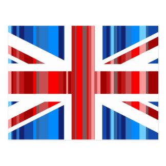 Reino Unido rayado Postal