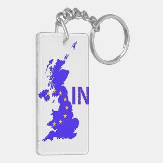 Reino Unido - Referéndum 2016 de la pertenencia a Llavero Rectangular Acrílico A Doble Cara