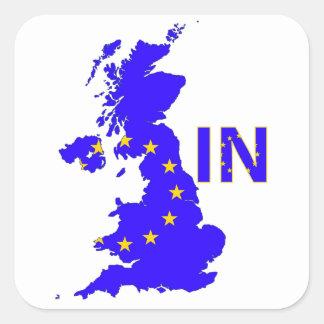 Reino Unido - Referéndum 2016 de la pertenencia a Pegatina Cuadrada