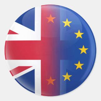 Reino Unido - Referéndum 2016 de la pertenencia a Pegatina Redonda