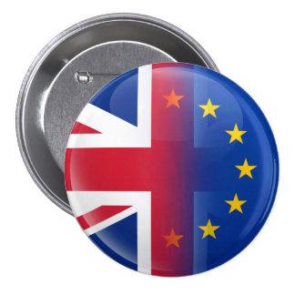 Reino Unido - Referéndum 2016 de la pertenencia a Pin Redondo De 3 Pulgadas