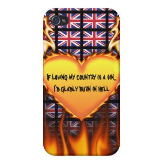 Reino Unido, si el amor de mi país es un pecado iPhone 4 Funda