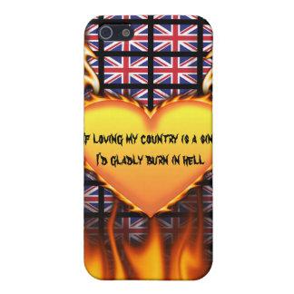 Reino Unido, si el amor de mi país es un pecado iPhone 5 Cárcasa