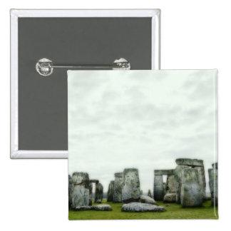 Reino Unido, Stonehenge 14 Pin Cuadrada 5 Cm