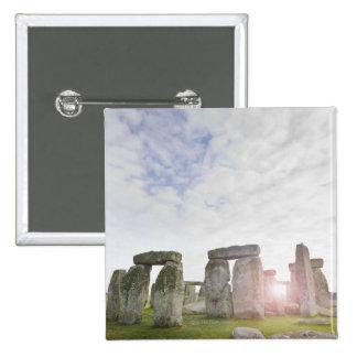 Reino Unido, Stonehenge 2 Pin Cuadrada 5 Cm