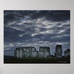 Reino Unido, Stonehenge, visión escénica en el ama Póster