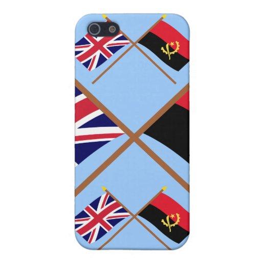 Reino Unido y banderas cruzadas Angola iPhone 5 Funda