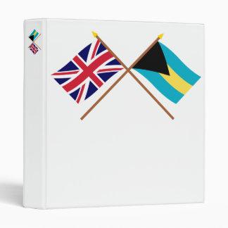 """Reino Unido y banderas cruzadas Bahamas Carpeta 1"""""""