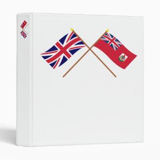 """Reino Unido y banderas cruzadas Bermudas Carpeta 1"""""""
