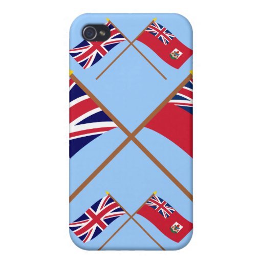 Reino Unido y banderas cruzadas Bermudas iPhone 4/4S Carcasa