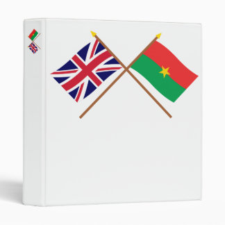 "Reino Unido y banderas cruzadas Burkina Faso Carpeta 1"""
