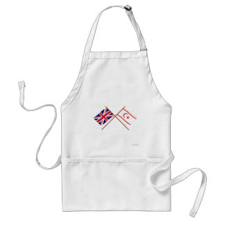 Reino Unido y banderas cruzadas Chipre del norte Delantal