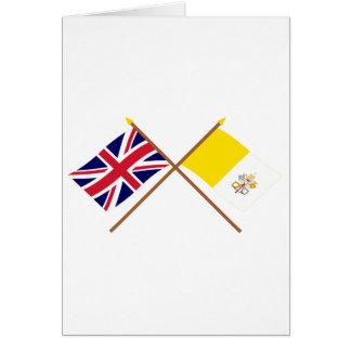 Reino Unido y banderas cruzadas Ciudad del Vatican Felicitación