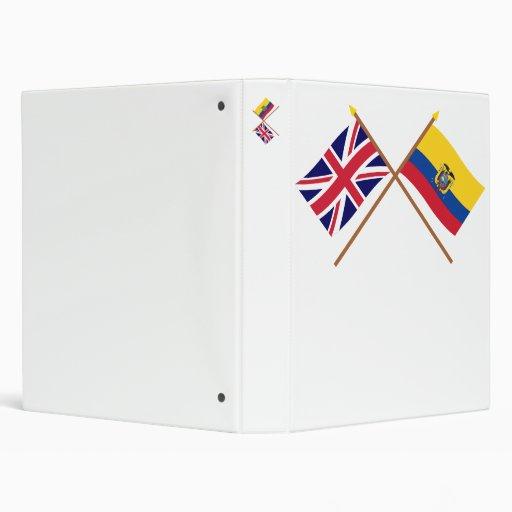 """Reino Unido y banderas cruzadas Ecuador Carpeta 1"""""""