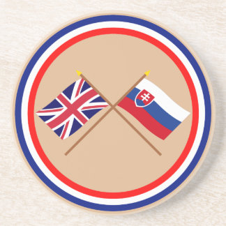 Reino Unido y banderas cruzadas Eslovaquia Posavasos Para Bebidas