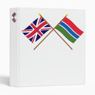 """Reino Unido y banderas cruzadas Gambia Carpeta 1"""""""