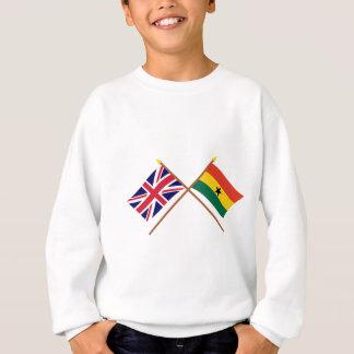 Reino Unido y banderas cruzadas Ghana Sudadera