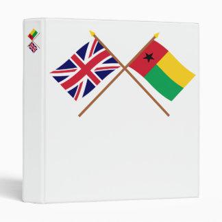"""Reino Unido y banderas cruzadas Guinea-Bissau Carpeta 1"""""""