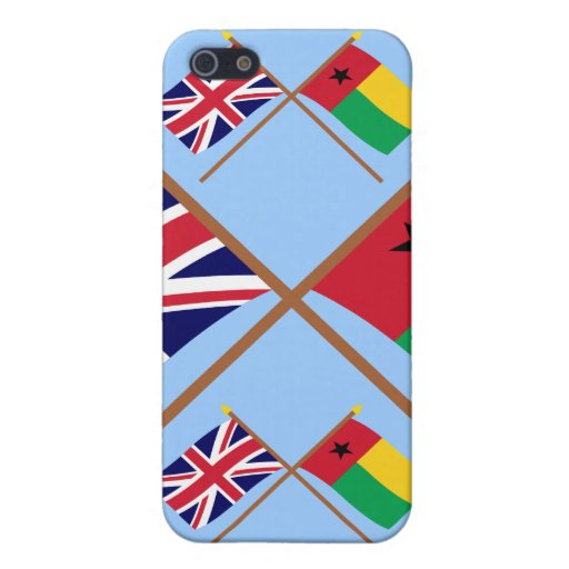 Reino Unido y banderas cruzadas Guinea-Bissau iPhone 5 Fundas