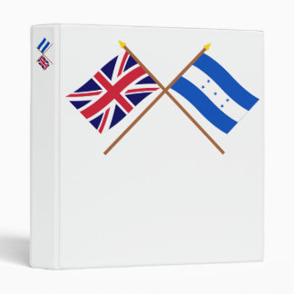 "Reino Unido y banderas cruzadas Honduras Carpeta 1"""