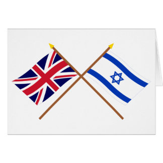Reino Unido y banderas cruzadas Israel Tarjeta De Felicitación