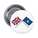 Reino Unido y banderas cruzadas Kosovo Pin