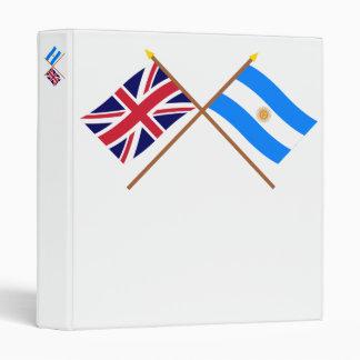 """Reino Unido y banderas cruzadas la Argentina Carpeta 1"""""""