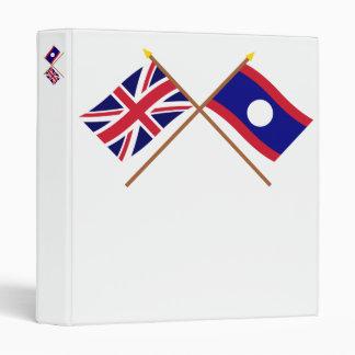 """Reino Unido y banderas cruzadas Laos Carpeta 1"""""""