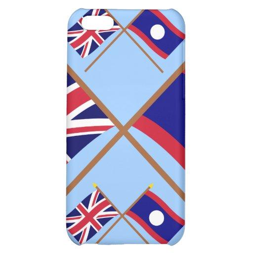 Reino Unido y banderas cruzadas Laos