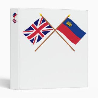 """Reino Unido y banderas cruzadas Liechtenstein Carpeta 1"""""""
