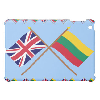 Reino Unido y banderas cruzadas Lituania