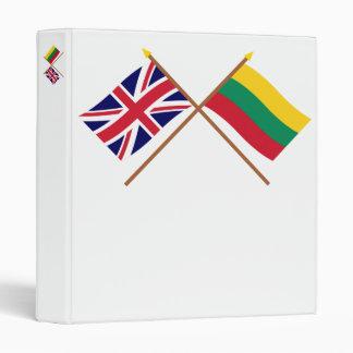 """Reino Unido y banderas cruzadas Lituania Carpeta 1"""""""