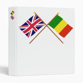 """Reino Unido y banderas cruzadas Malí Carpeta 1"""""""