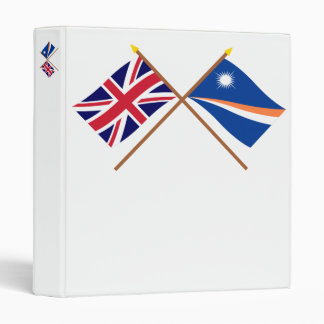 """Reino Unido y banderas cruzadas Marshall Islands Carpeta 1"""""""