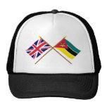 Reino Unido y banderas cruzadas Mozambique Gorros