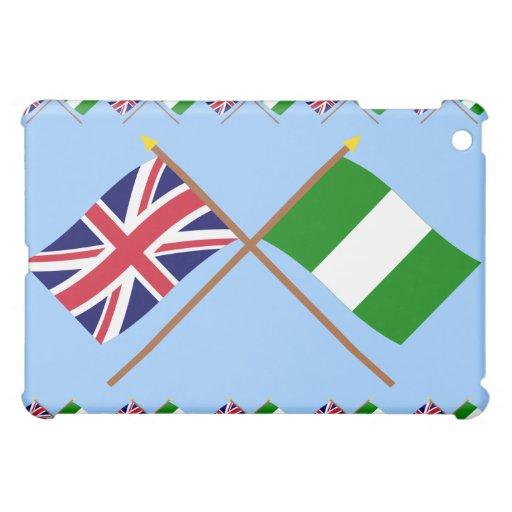 Reino Unido y banderas cruzadas Nigeria