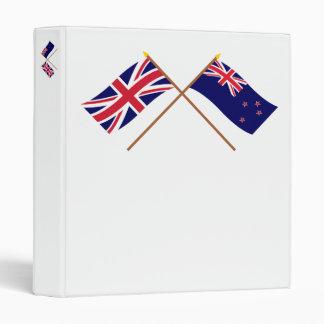 """Reino Unido y banderas cruzadas Nueva Zelanda Carpeta 1"""""""
