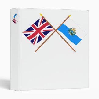 """Reino Unido y banderas cruzadas San Marino Carpeta 1"""""""
