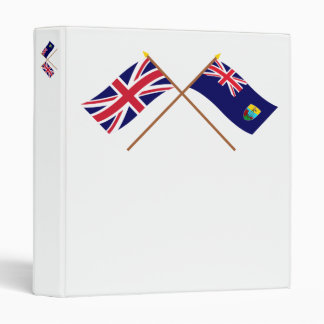 """Reino Unido y banderas cruzadas Santa Helena Carpeta 1"""""""